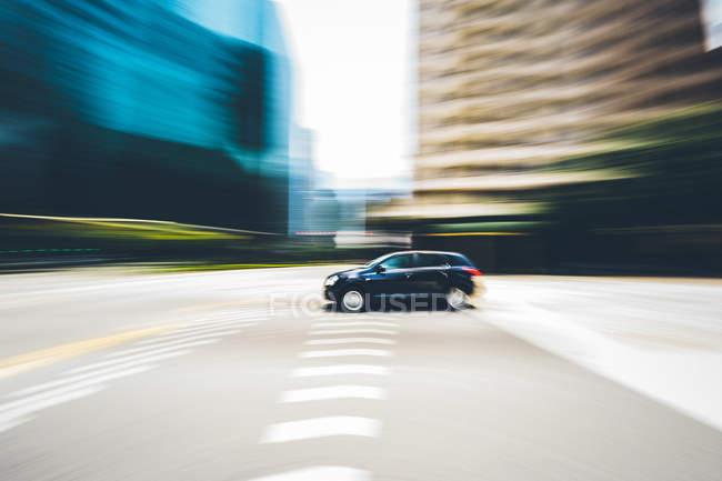 Singapore, Velocità del veicolo in centro — Foto stock
