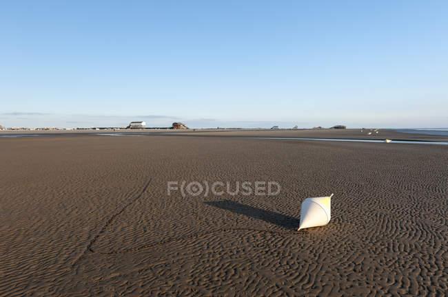 Подання з пляжу з Санкт міського в денний час, Північного моря, спогади про Шлезвіг-Гольштейн, Німеччина — стокове фото