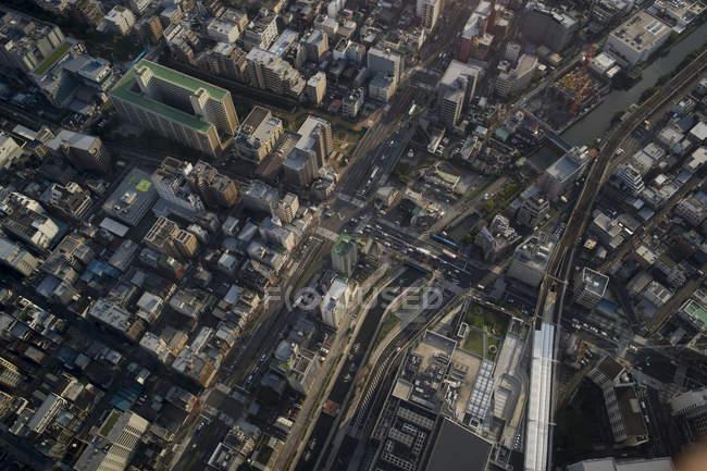 Японії, Токіо, перспективою Асакуса і Sumida річка — стокове фото