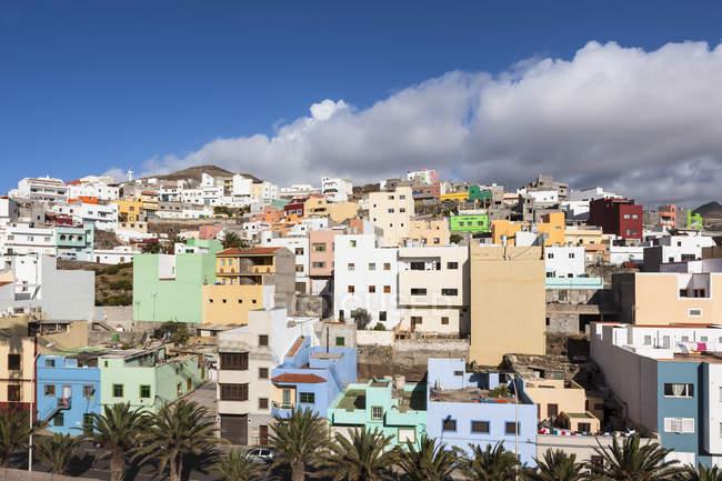 Espanha, Ilhas Canárias, Gran Canaria, Vista para Galdar — Fotografia de Stock