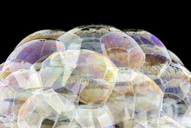 Абстрактный рисунок поверхности мыльных пузырей, закрыть — стоковое фото