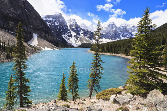 Canada, Parc National Banff, en Alberta, le lac Moraine — Photo de stock