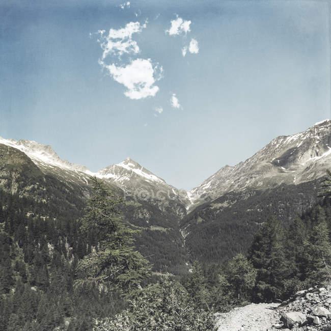 Італія, Ломбардія, Chiareggio, вид на льодовик, стежка — стокове фото