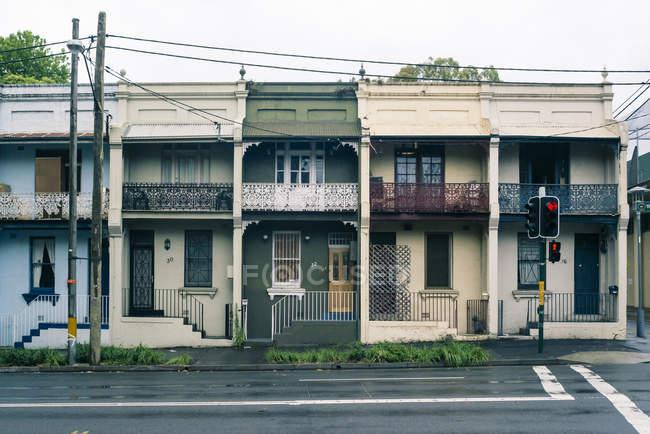 Австралія, новий Південний Уельс, Сідней, рядок старого житлових будинків — стокове фото
