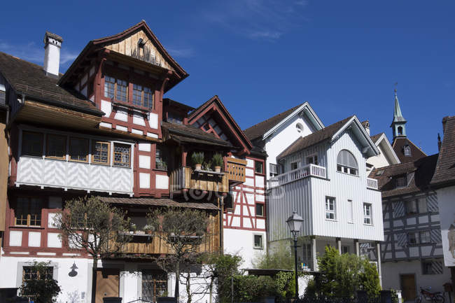 Switzerland, Thurgau, Arbon, Old town, Half-timbered house — Stock Photo