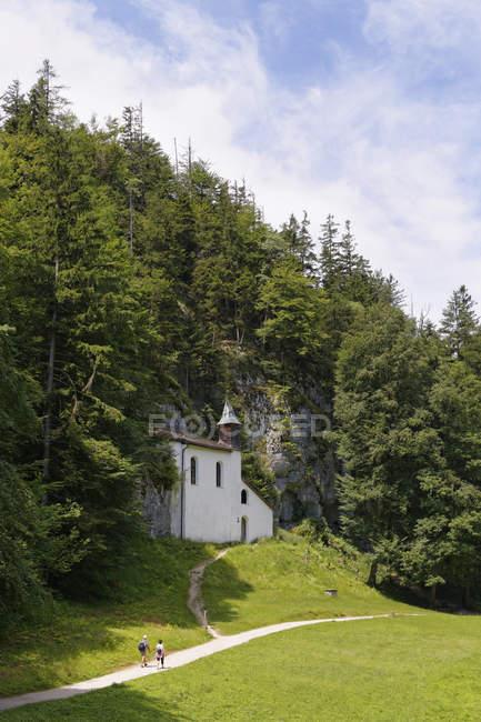 Австрія, Зальцбург держави, Зальцкаммергут, Святого Gilgen, перегляд Falkenstein церква — стокове фото