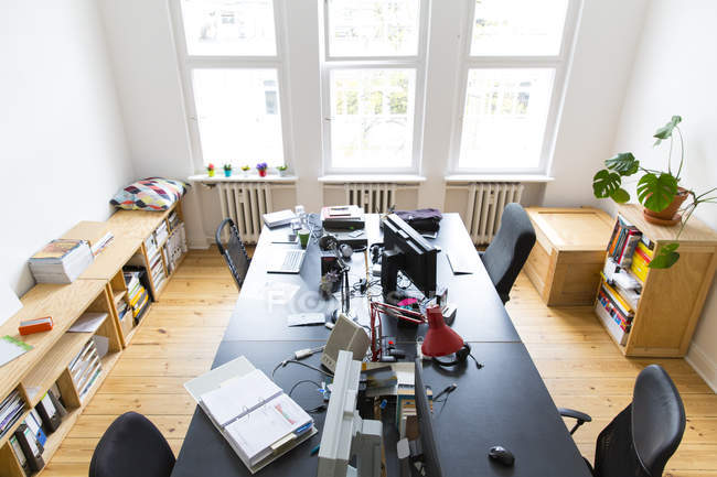 modern interior office stock. Interior View Of Workspace In Modern Empty Office \u2014 Stock Photo E