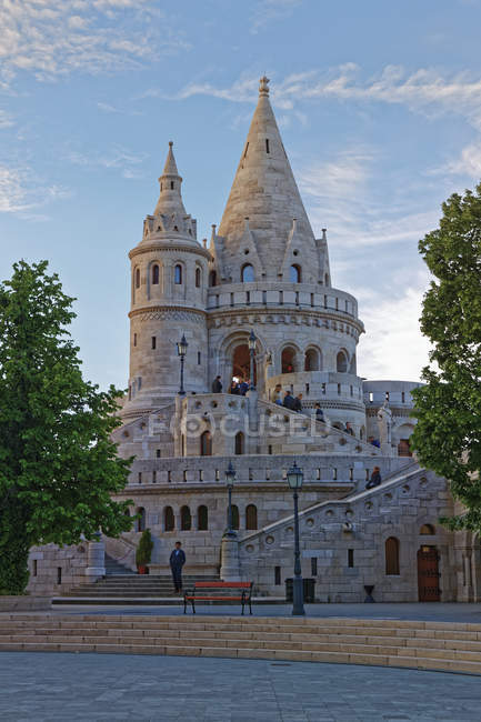 Hungary, Budapest, View to Fisherman's Bastion during daytime — Stock Photo