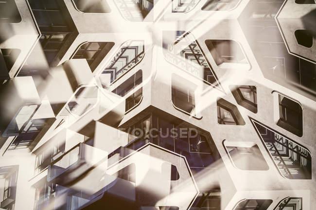 Vista de la arquitectura abstracta en interiores - foto de stock