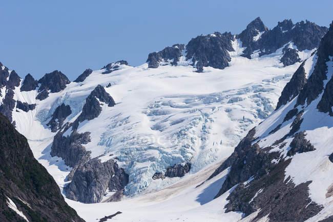 Malerischer Blick auf den Gletscher bei Tageslicht, Auferstehungsbucht, Seward, Alaska, USA — Stockfoto