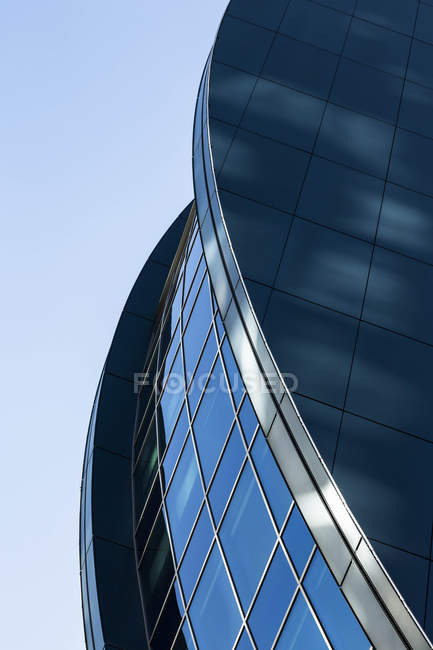 Germany, Hesse, Frankfurt, modern architecture, glass facade — Stock Photo