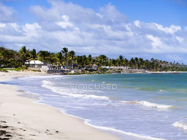 Caribe, Antilhas, Antilhas, Santa Lúcia, Derriere Morne, praia perto de Vieux Fort — Fotografia de Stock