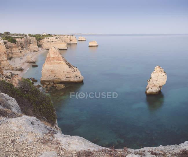 Vista aérea de Portugal, Lagoa, da Praia da Marinha — Fotografia de Stock