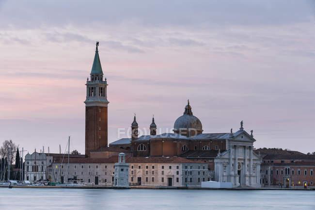 Italy, Venice, San Giorgio Maggiore view at twilight — Stock Photo