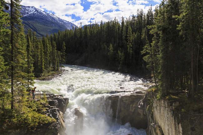 Canada, Alberta, Jasper National Park, Sunwapta Falls, Sunwapta River — Stock Photo