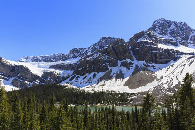 Canada, Alberta, Rocky Mountains,  Canadian Rockies, Banff National Park, Crowfoot Glacier — Stock Photo
