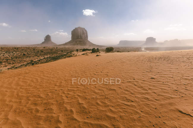 USA, Utah, Monument Valley during a summer day — Stock Photo