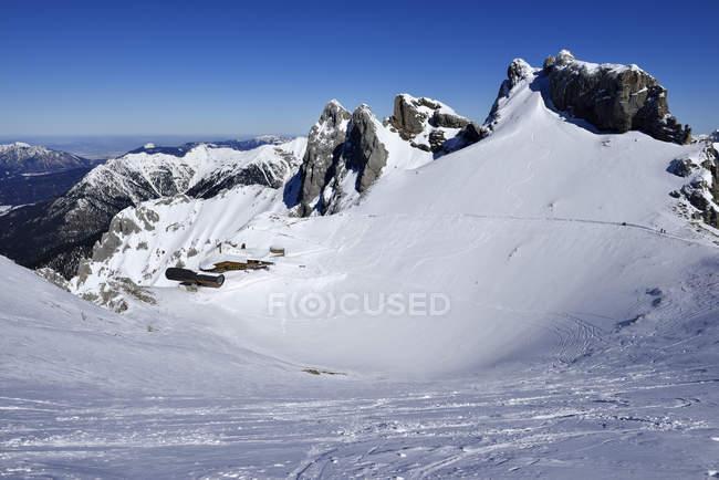 Allemagne, Bavière, vue de la station de montagne de Karwendelbahn — Photo de stock