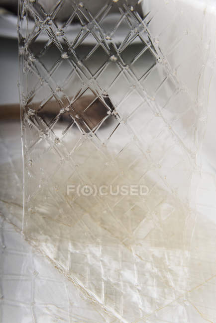 View of Sheets of gelatin on blurred background — Stock Photo