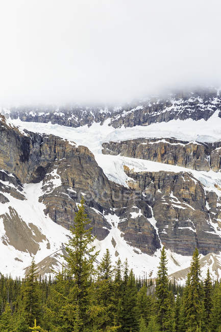 Kanada, Alberta, Rocky Mountains, kanadischen Rocky Mountains, Banff Nationalpark, Crowfoot Glacier und Crowfoot Berg — Stockfoto