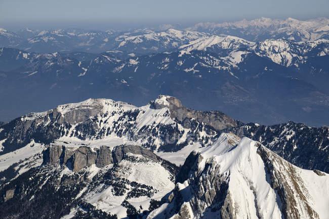 Hoher Kasten mountain in Appenzell Alps in Eastern Switzerland — стокове фото