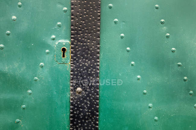 View of green Door on house, close up — Stock Photo