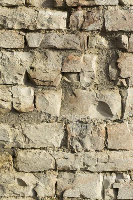 Vista da parede de pedra velha durante o dia — Fotografia de Stock