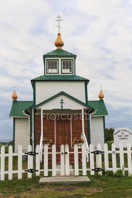 Estados Unidos, Alaska, Península de Kenai, Iglesia ortodoxa rusa - foto de stock