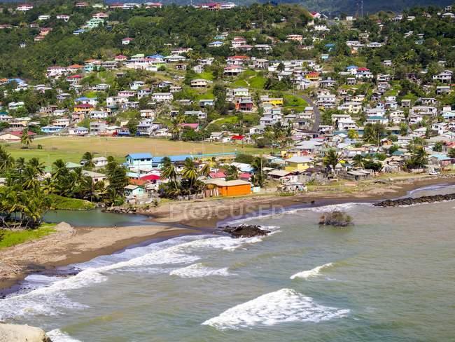 Caribbean, Lesser Antilles, Sainte Lucie, vue à Dennery pendant la journée — Photo de stock