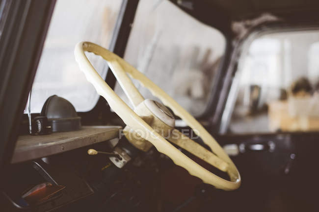 Germany, driver's cab of an old truck — Stock Photo