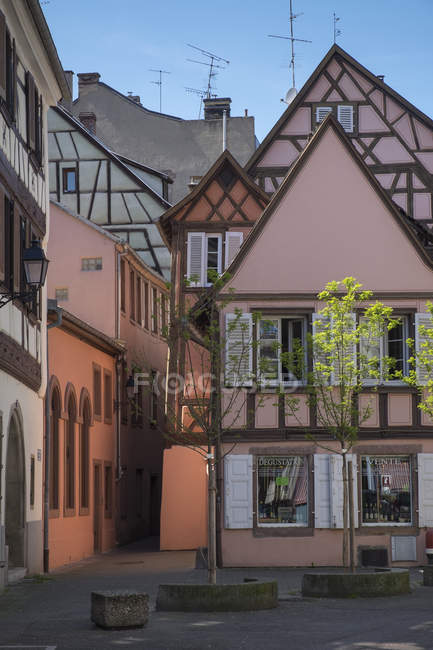 France, Colmar, Rue de l'Ange, historic frame houses at the old town — Stock Photo