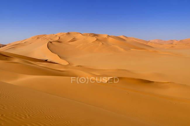 Nord-Afrika, Algerien, Blick auf Dünen im Erg Mehedjibat — Stockfoto