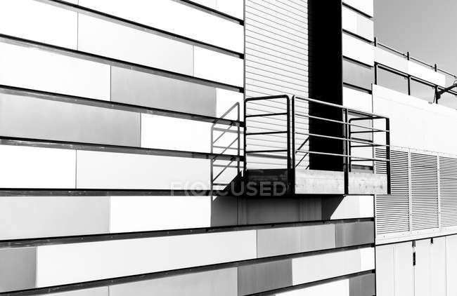 Part of facade of power station — Stock Photo