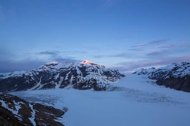Grenzregion alaska-britisch columbia, Lachsgletscher bei Sonnenuntergang — Stockfoto