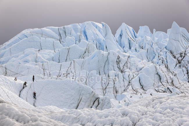 Ghiacciaio Matanuska Mouth, Alaska, USA — Foto stock