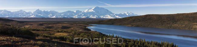 Мак-Кінлі і Аляска діапазон Denali National Park, Аляска, США — стокове фото