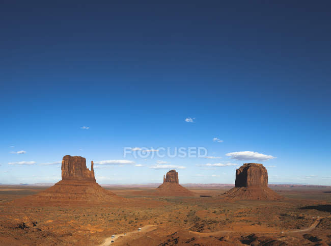 Vista do monumento Valley durante a luz do dia, Utah, EUA — Fotografia de Stock