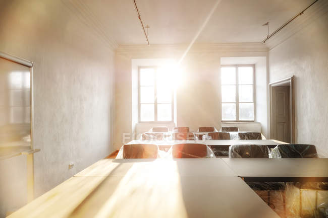 Bright training room indoors — Stock Photo