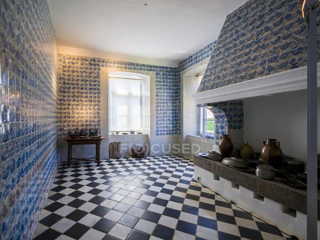Germania, Eutin, Castello di Eutin, Inerior della cucina storica — Foto stock