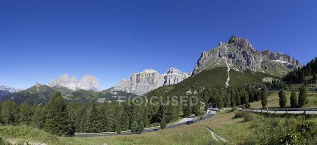 Italy, South Tyrol, Pordoi Pass during daytime — Stock Photo