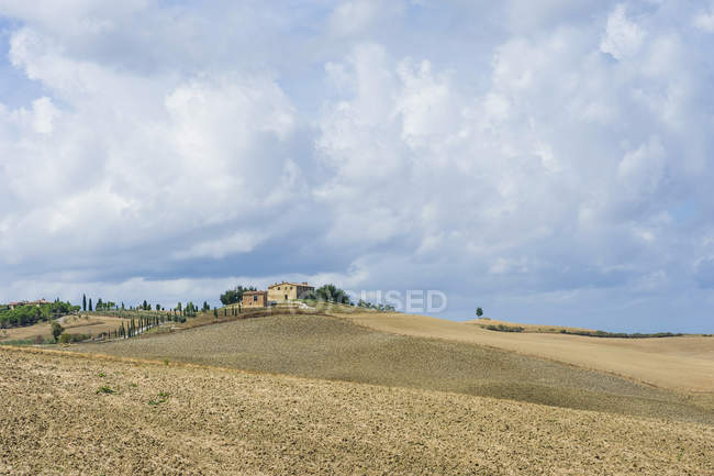 Italy, Tuscany, Val d'Orcia, Rolling rural landscape  during daytime — Stock Photo