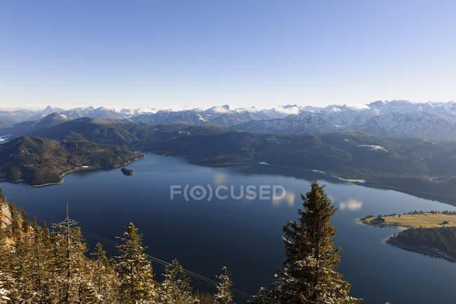 Allemagne, Bavière, Haute Bavière, Karwendel, lac Walchensee pendant la journée — Photo de stock
