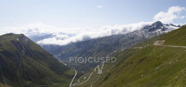 Oberalp перевал Swirteland, Grisons, денний час — стокове фото