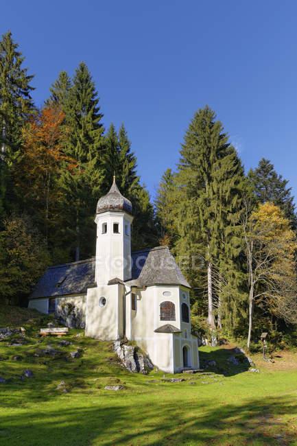 Германия, Sachrang, Mount Olivet Chapel — стоковое фото