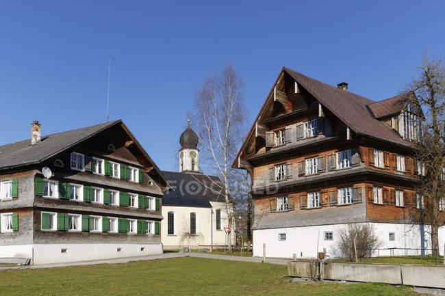 Австрії, Форарльберг, Bregenz лісу, яйце, Grossdorf, будинків і церква — стокове фото