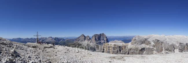 Italie, Trentin, Belluno, montagneux à Sass Pordoi — Photo de stock