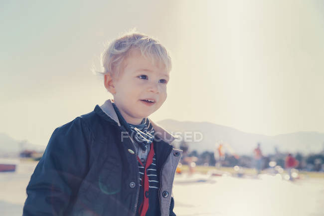 Little boy on the move — Stock Photo