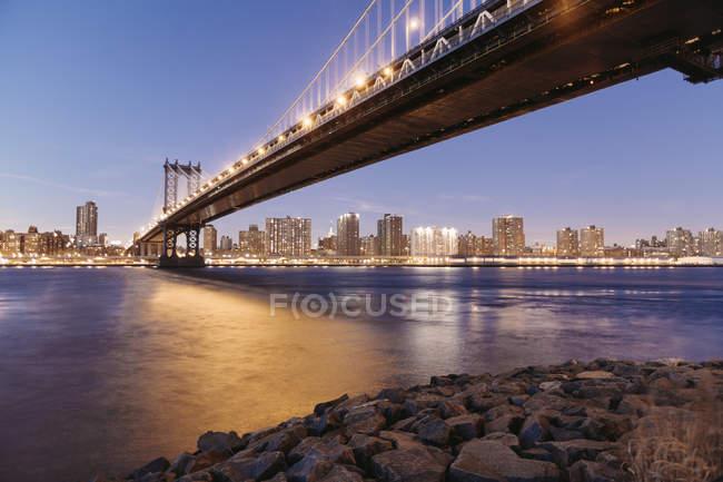 EUA, Nova Iorque, Ponte Manhattan — Fotografia de Stock