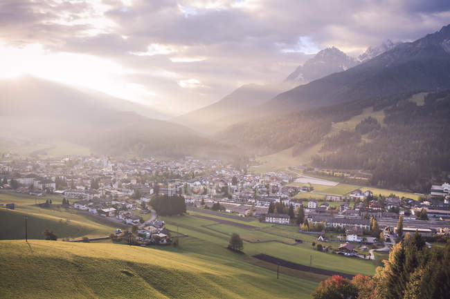 Italy, South Tyrol, Puster Valley, Innichen in the morning — Stock Photo