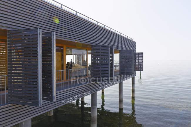 Austria, Vorarlberg, Lochau, view to pile dwelling at Lake Constance — Stock Photo
